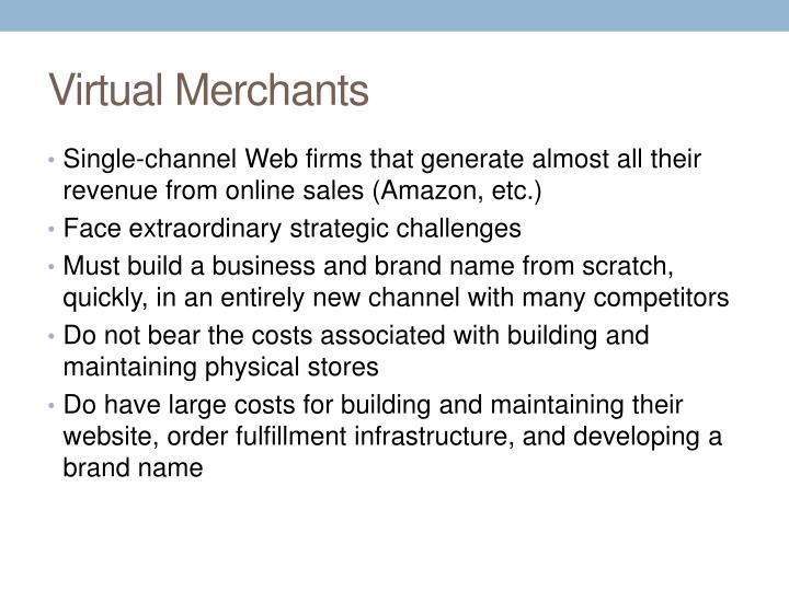Virtual Merchants