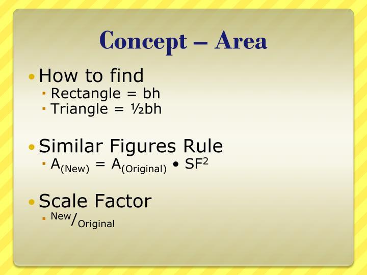 Concept – Area