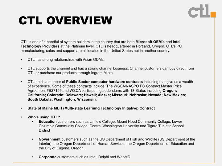 Ctl overview1