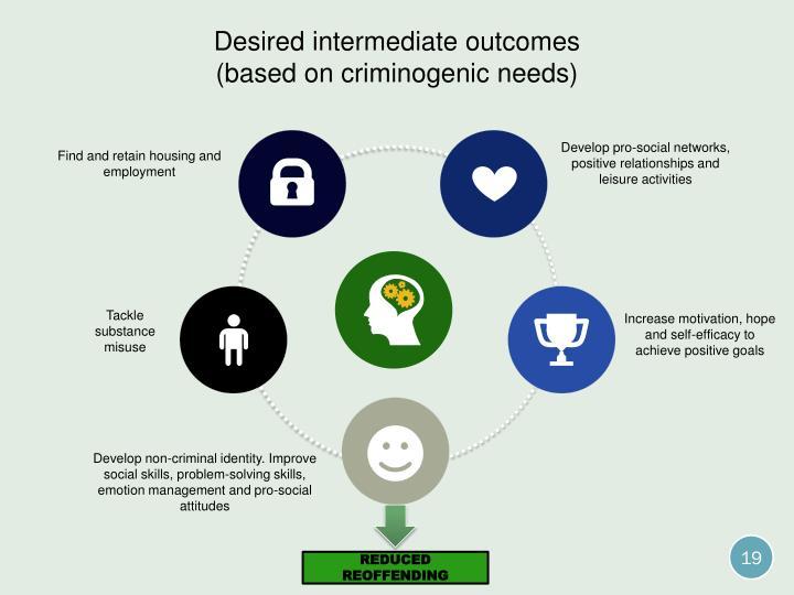 Desired intermediate outcomes
