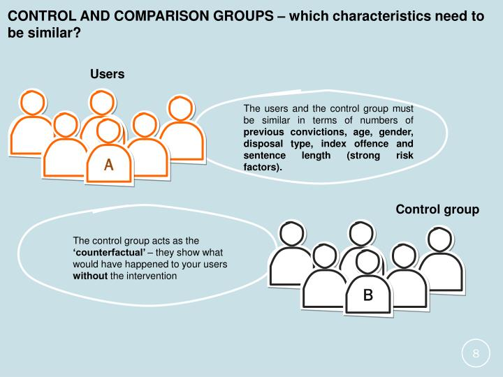 CONTROL AND COMPARISON GROUPS – which characteristics need to be similar?