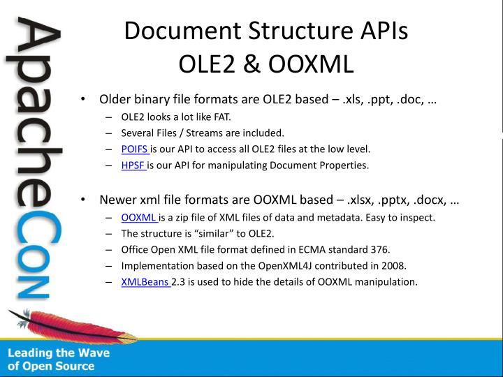 Document Structure APIs