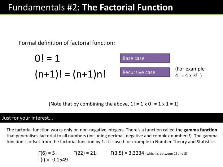 Fundamentals #2: