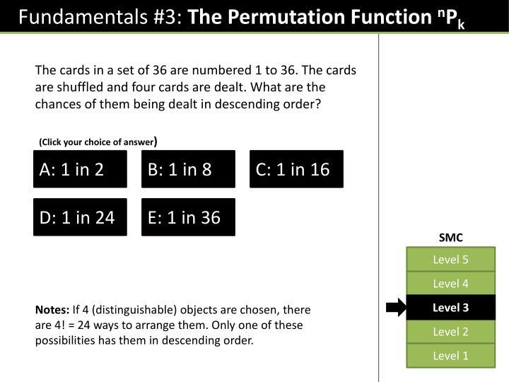 Fundamentals #3: