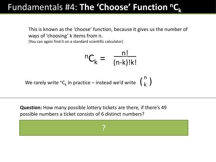 Fundamentals #4: