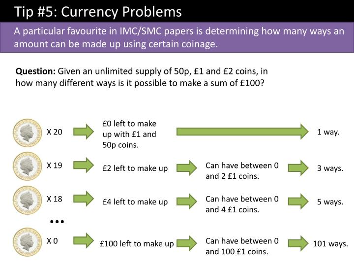 Tip #5: Currency Problems