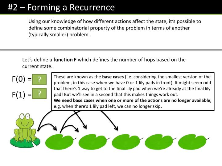 #2 – Forming a Recurrence