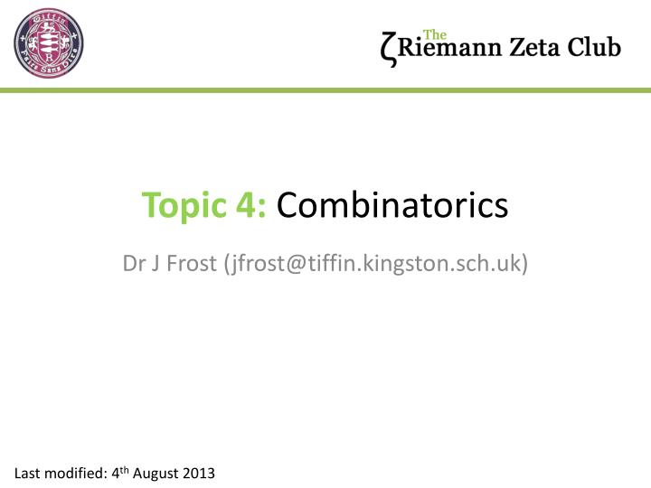 Topic 4 combinatorics