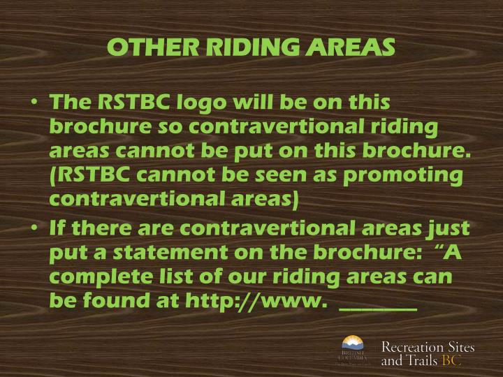 OTHER RIDING AREAS