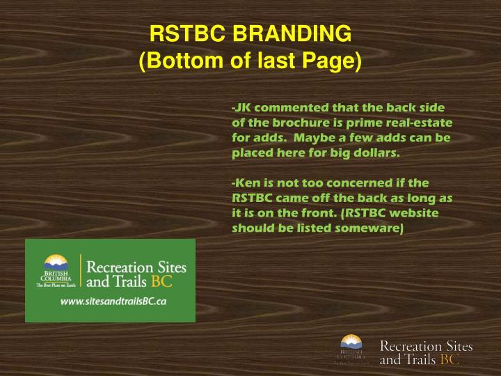 RSTBC BRANDING