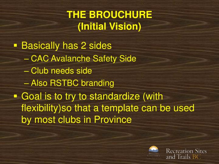 THE BROUCHURE