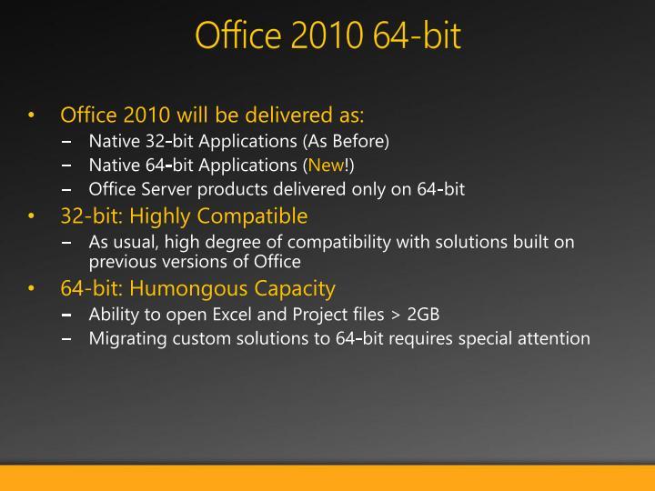 Office 2010 64-bit