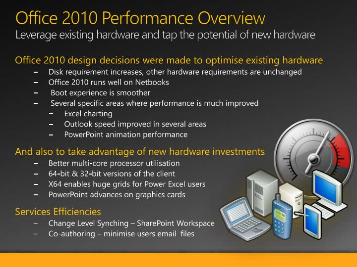 Office 2010 Performance Overview