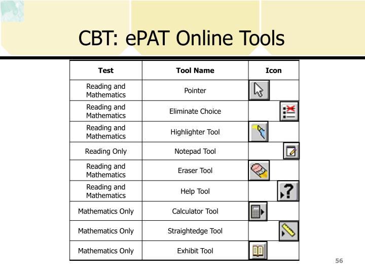 CBT: ePAT Online Tools