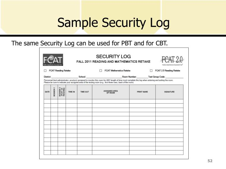 Sample Security Log