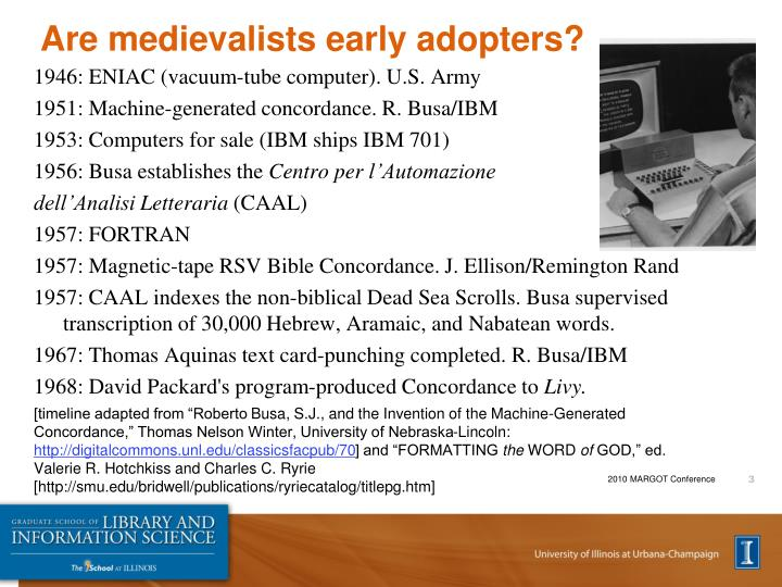 Are medievalists early adopters
