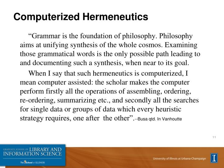 Computerized Hermeneutics