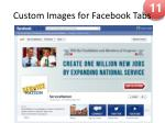 custom images for facebook tabs