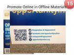 promote online in offline materials