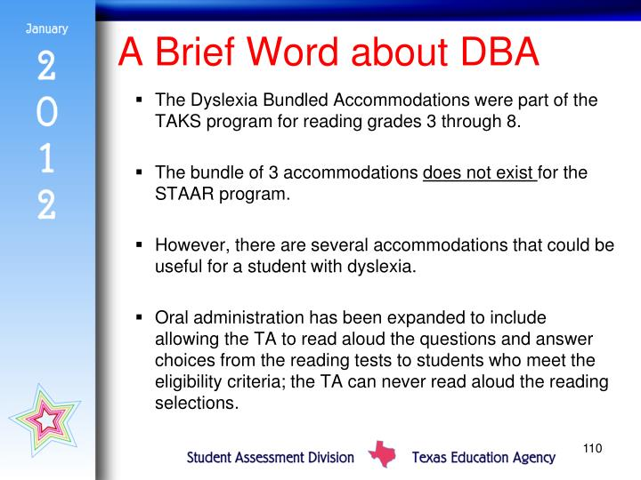 A Brief Word about DBA