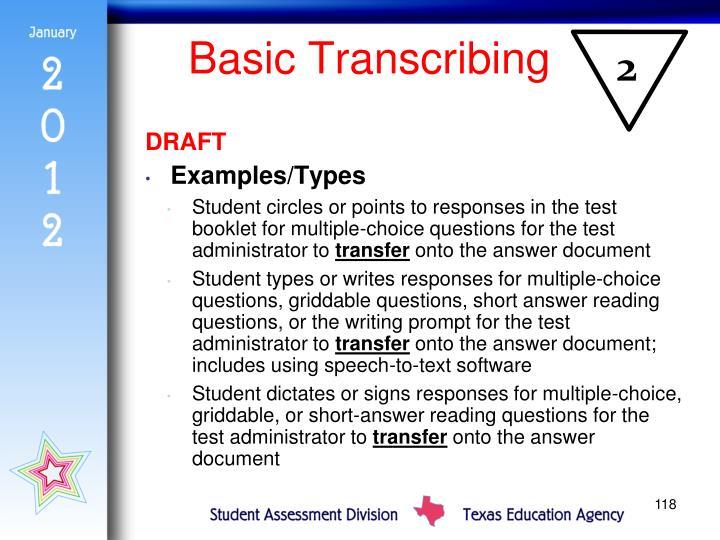 Basic Transcribing