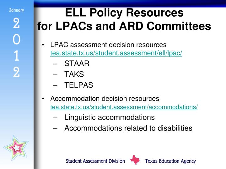 ELL Policy Resources