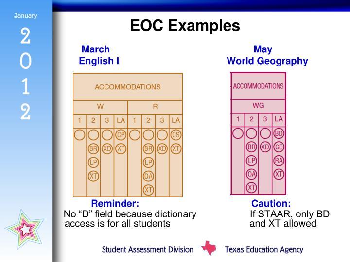 EOC Examples