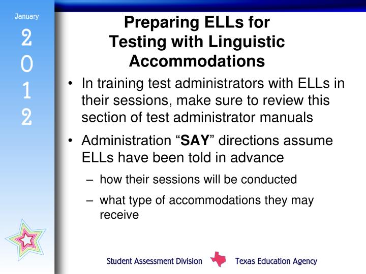 Preparing ELLs for