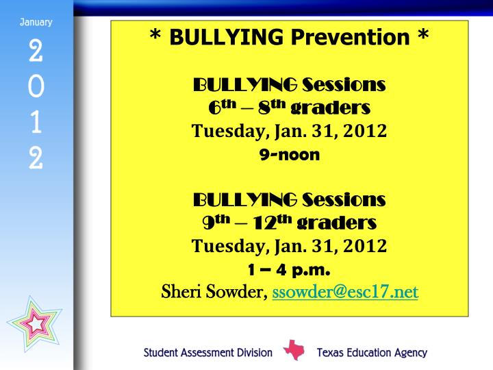 * BULLYING Prevention *