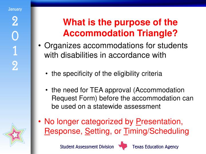 What is the purpose of the Accommodation Triangle?