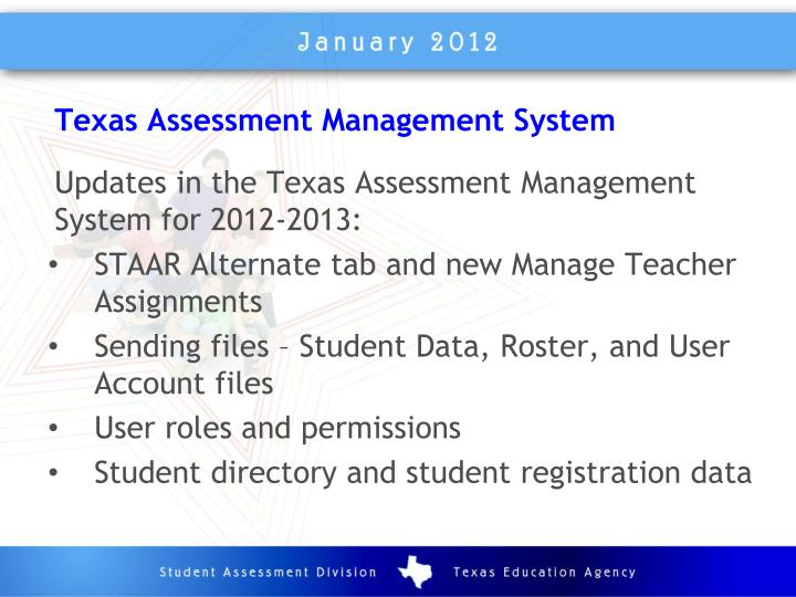 Texas Assessment Management System