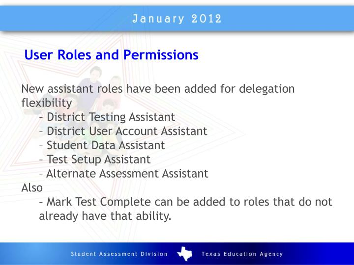 User Roles and Permissions