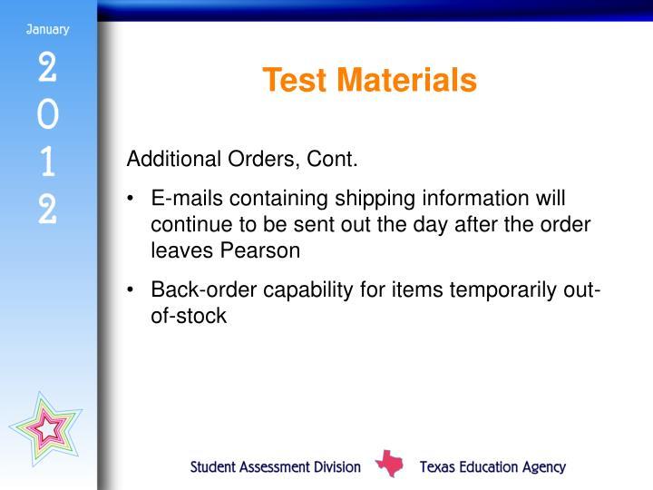 Test Materials
