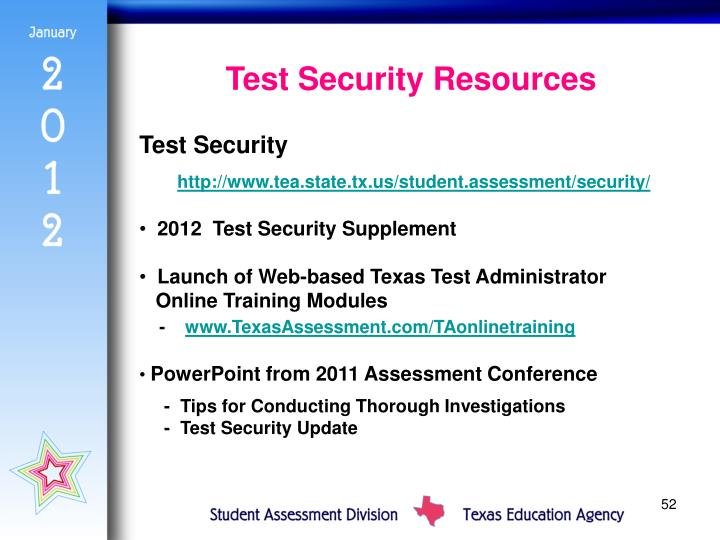Test Security Resources