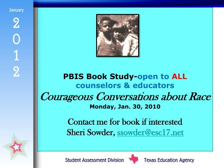 PBIS Book Study-