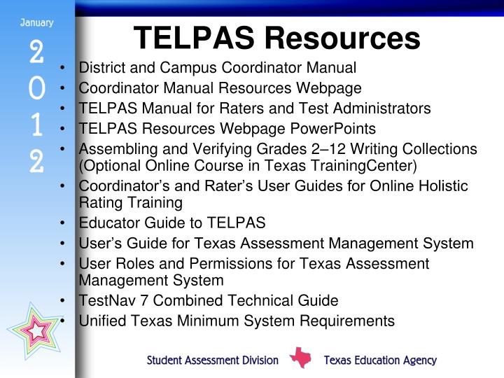 TELPAS Resources