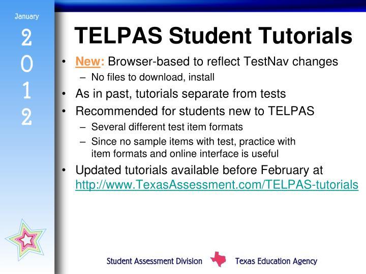 TELPAS Student Tutorials