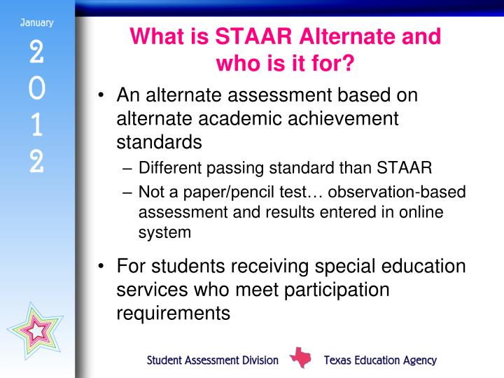 What is STAAR Alternate and