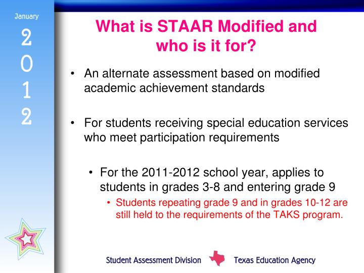 What is STAAR Modified and