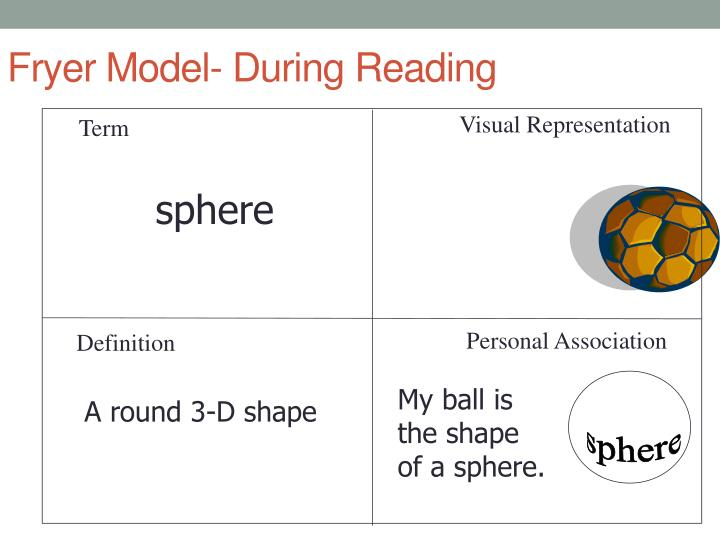 Fryer Model- During Reading
