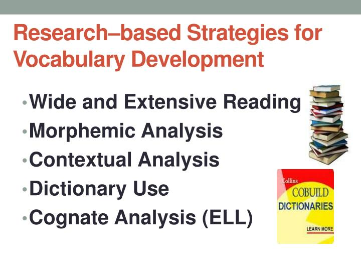 Research–based Strategies for Vocabulary Development