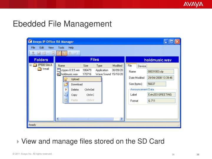 Ebedded File Management