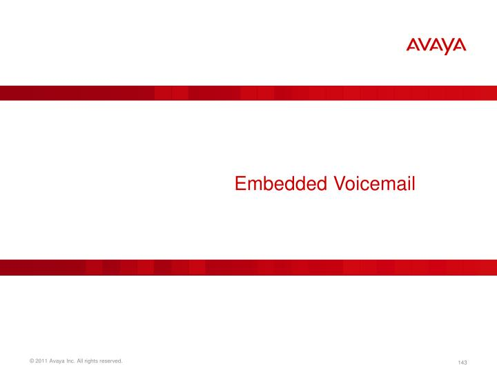 Embedded Voicemail