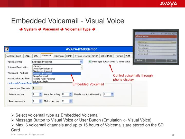Embedded Voicemail - Visual Voice
