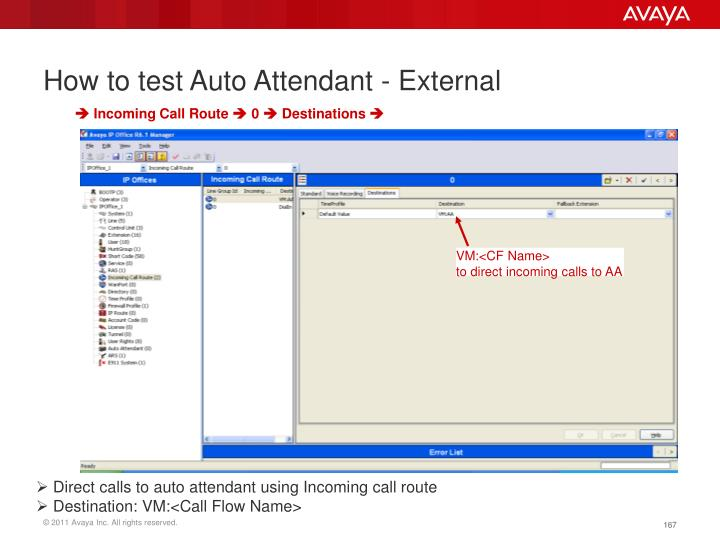 How to test Auto Attendant - External