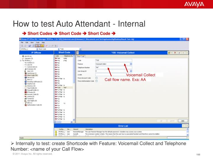 How to test Auto Attendant - Internal