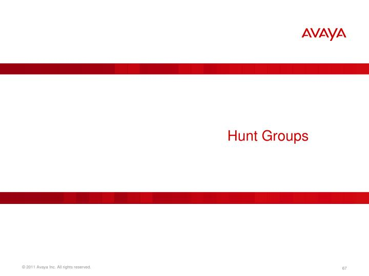 Hunt Groups
