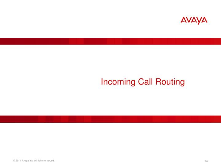 Incoming Call Routing