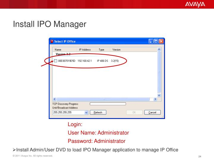 Install IPO Manager