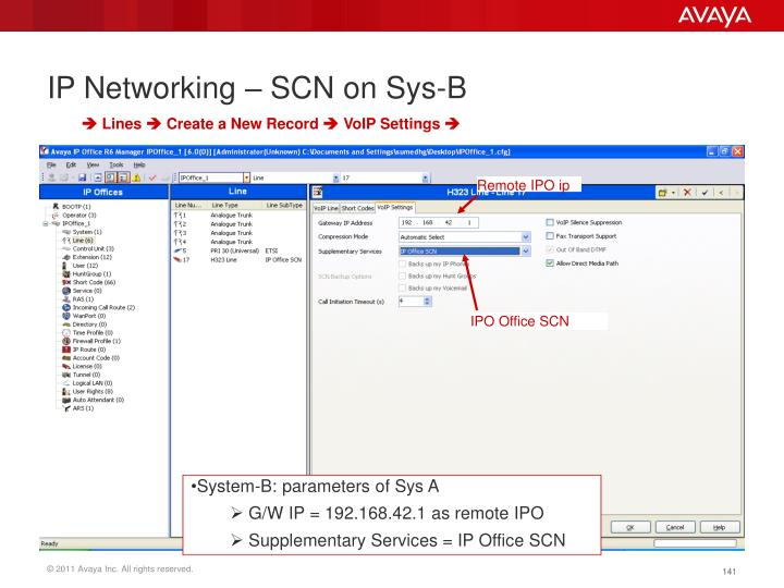 IP Networking – SCN on Sys-B